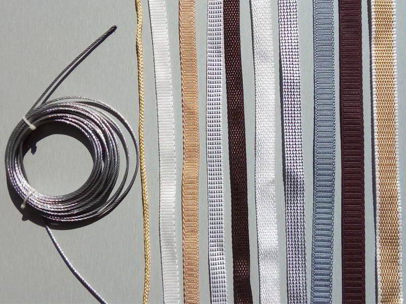 Cintas, cordones y cable para accionar persianas